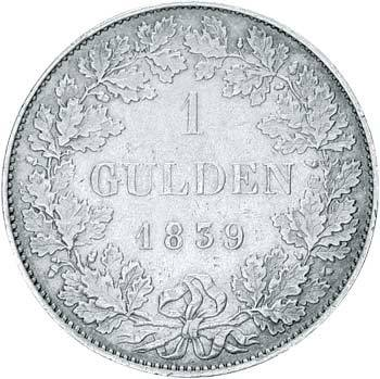 1 Gulden Hessen-Darmstadt Großherzog Ludwig II. 1830-1848 ss-vz
