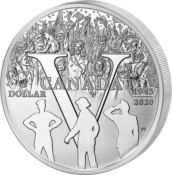 1 Dollar Kanada 75. Jubiläum des V-E Day 2020