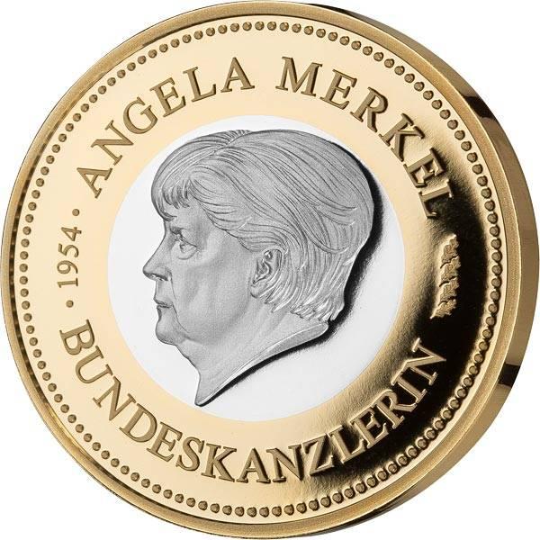 Gedenkprägung Angela Merkel