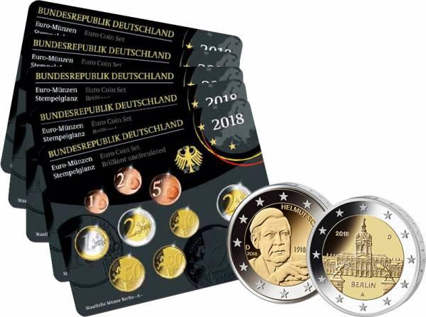 Euro-Kursmünzensätze BRD 2018 Stempelglanz