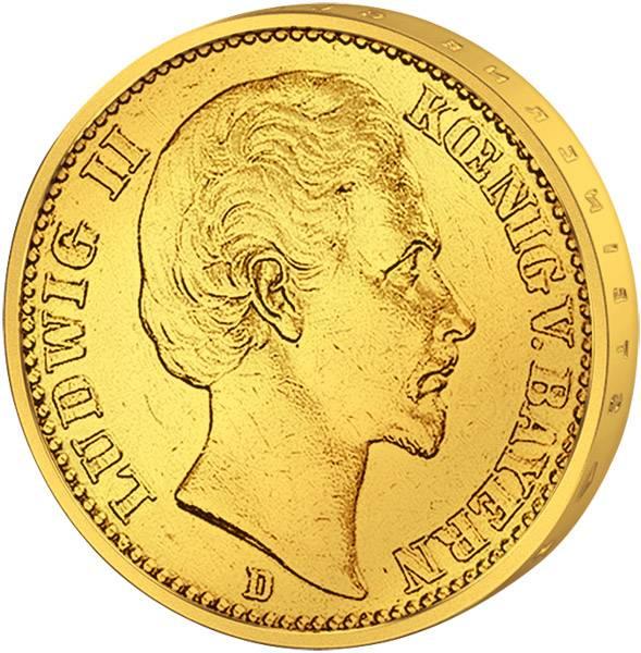 10 Mark Bayern Ludwig II. 1872-1873 Sehr schön
