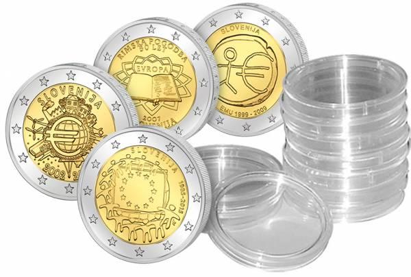4 x 2 Euro Slowenien Gemeinschaftsausgaben