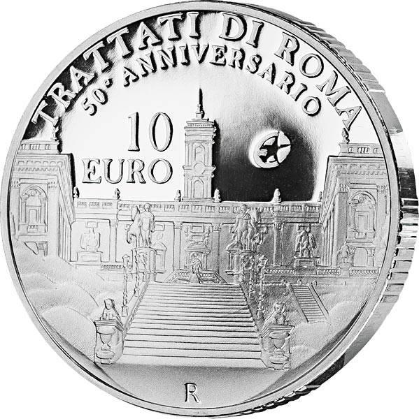 10 Euro Italien 50 Jahre Römische Verträge 2007