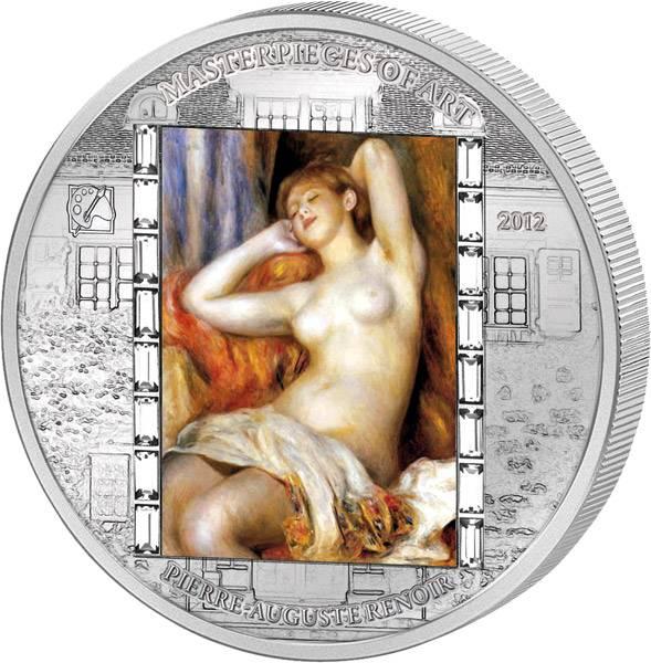 20 Dollars  Cook Inseln Pierre-Auguste Renoir  Die Schlafende 2012  Polierte Platte
