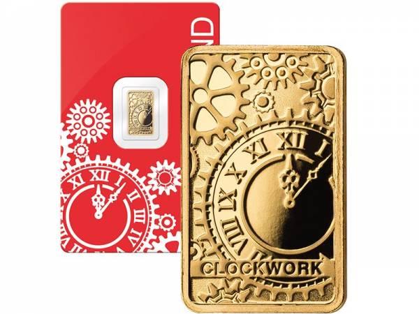 1 Gramm Goldbarren Schweiz Uhrwerk 2019