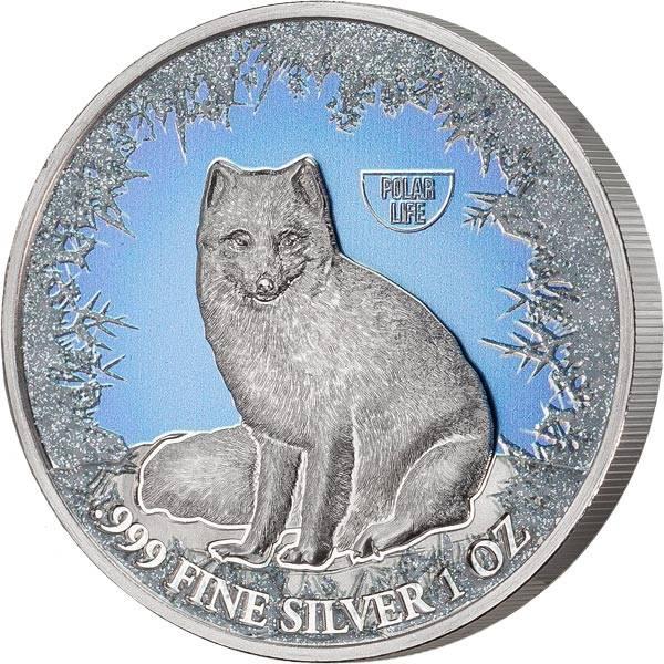 2 Dollars Niue Polarfuchs 2019