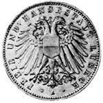 5 Mark Lübeck Wappen 1904-1913 ss-vz