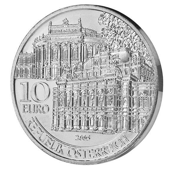 10 Euro Österreich Wiedereröffnung von Burg und Oper 2005