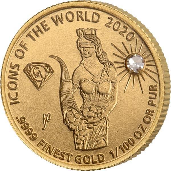 10 Francs Ruanda Gold Affordable Diamond Edition Fortuna 2020