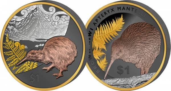 2 x 1 Unze Neuseeland Kiwi 2014-2015 Golden Enigma Premium Edition
