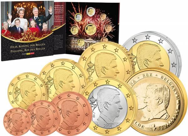 Euro-Kursmünzensatz Belgien König Philippe 2014