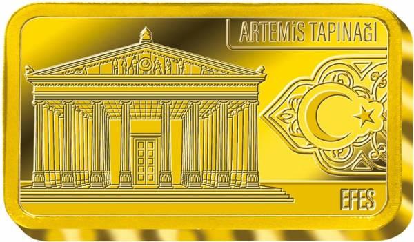0,5 Gramm Goldbarren Efes Tempel der Artemis