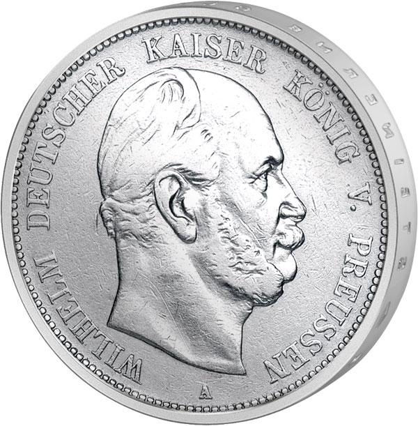 5 Mark Preußen Kaiser Wilhelm I 1874 1876 5 Reichsmark