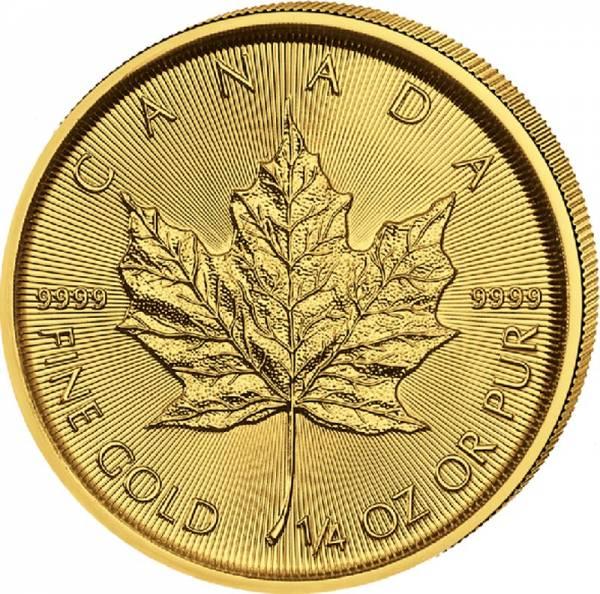 1/4 Unze Gold Kanada Maple Leaf 2021