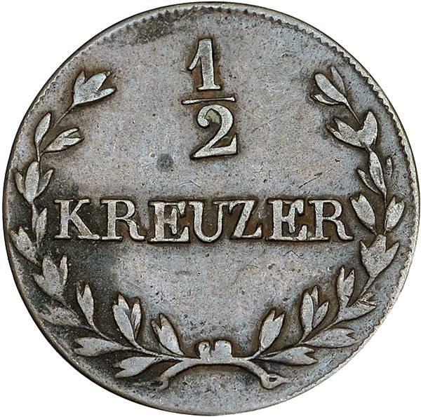 1/2 Kreuzer Baden Großherzog Ludwig