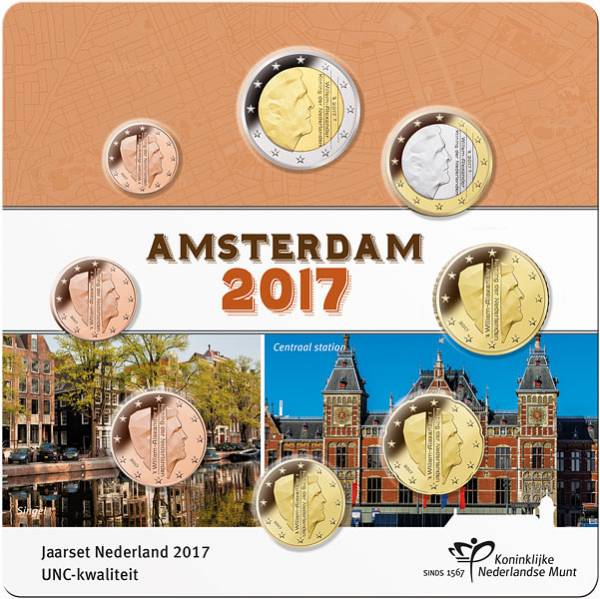 Euro-Kursmünzensatz Niederlande Amsterdam 2017
