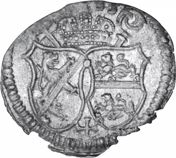 Pfennig Bamberg Bischof Marquard Sebastian Schenk von Stauffenberg 1685-1690 Vorzüglich