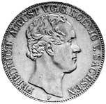 Taler Doppeltaler Friedrich August II. 1839-1843 F Vorzüglich