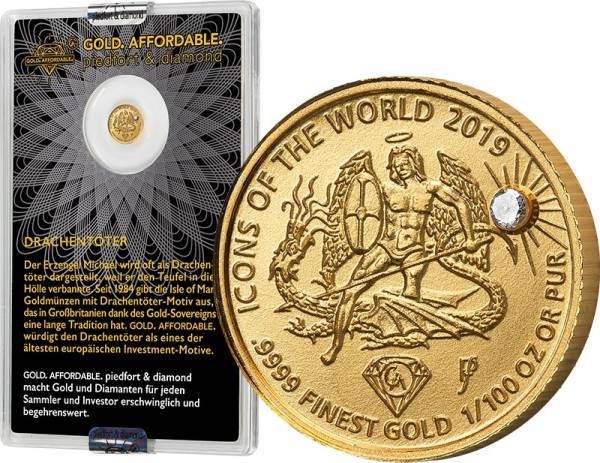 10 Francs Ruanda Gold Affordable Diamond Edition Drachentöter 2019