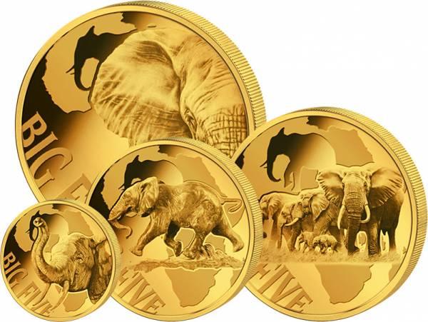 500 - 5.000 Francs Kamerun Big Five Elefanten 2018