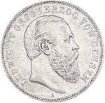 2 Mark Hessen Darmstad Ludwig IV. 1888 s-ss