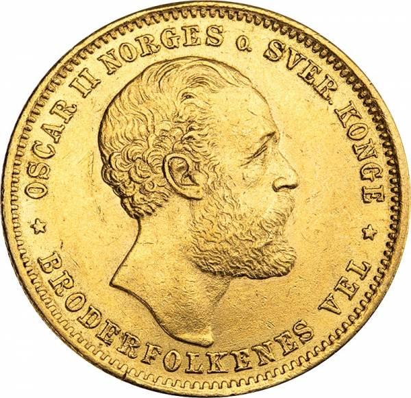 20 Kronen Norwegen König Oscar II. 1876-1902