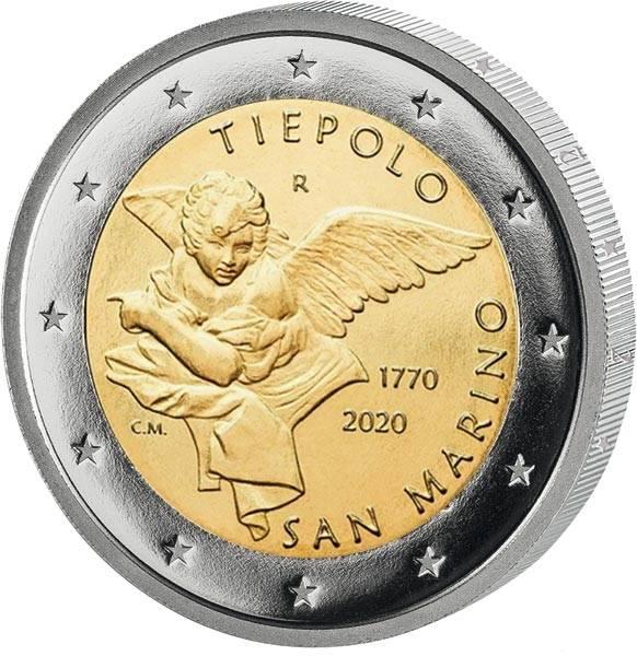 2 Euro San Marino 250. Todestag von Giovanni Battista Tiepolo 2020