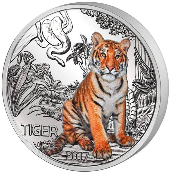 3 Euro Österreich Tier-Taler Tiger