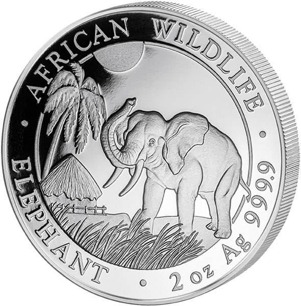 2 Unzen Somalia Elefant 2017