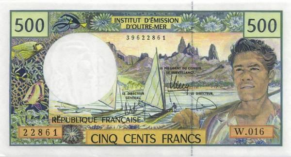 500 Francs Ozeanien Banknote Pazifische Territorien 2012