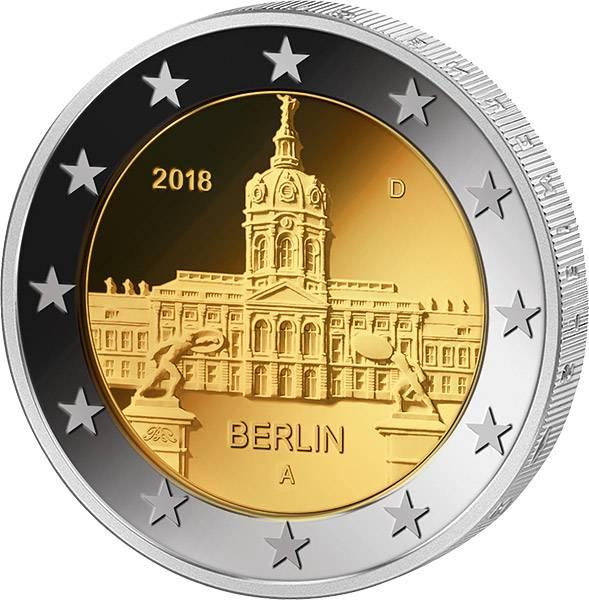 5 x 2 Euro BRD Berlin Schloss Charlottenburg 2018