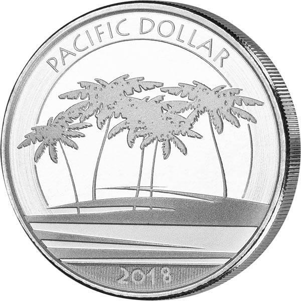 1 Unze Silber Fidschi Pacific Dollar 2018