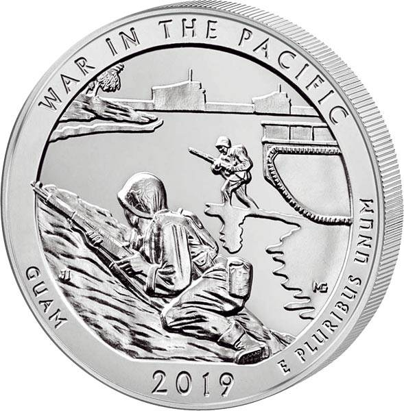 Quarter Dollar 25 Cents USA Guam War in the Pacific National Historical Park 2019