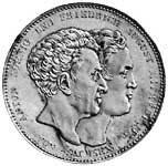 Taler Konventionstaler Anton und Friedrich August 1831 ss-vz