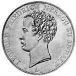 Taler Doppeltaler Leopold Friedrich 1839, 1843, 1846  vorzüglich