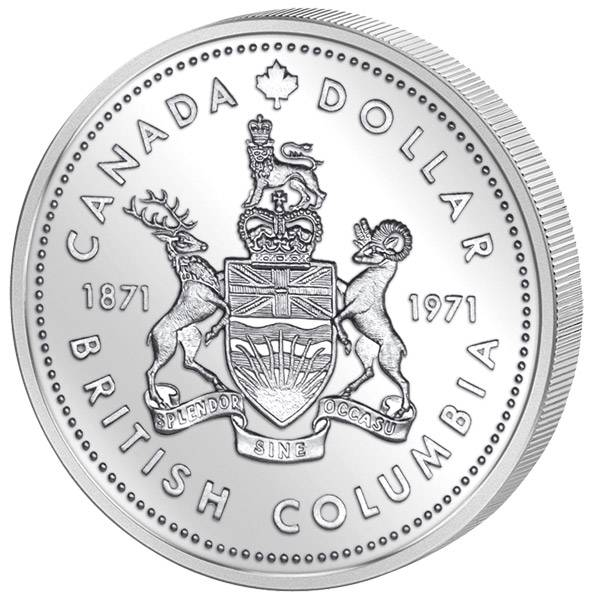 1 Dollar Kanada  British Columbia 1971 Prooflike