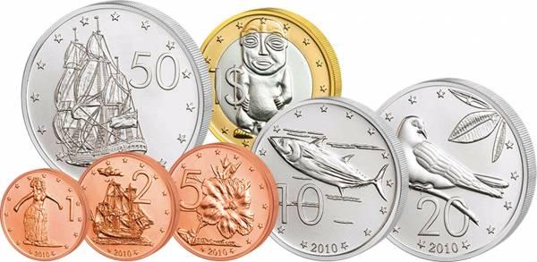 1 Cent - 1 Dollar Kursmünzensatz Cook-Inseln 2010