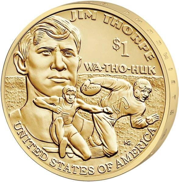 1 Dollar USA Jim Thorpe Wa-Tho-Huk 2018