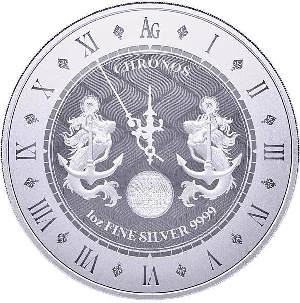1 Unze Silber Tokelau Chronos 2021