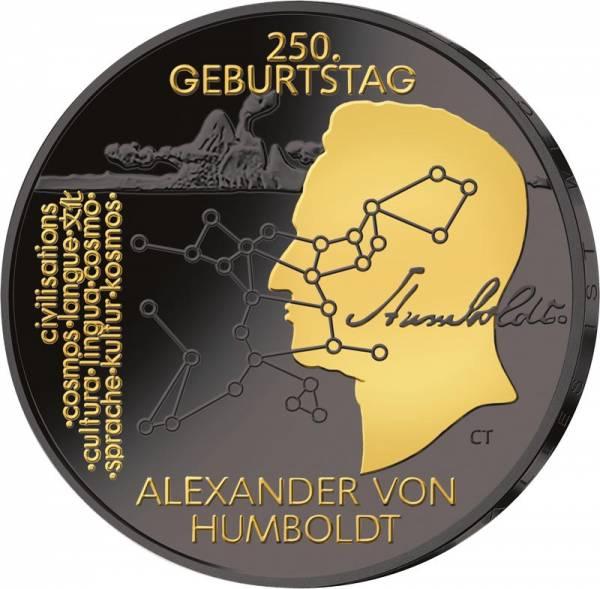 20 Euro BRD 250. Geburtstag Alexander von Humboldt 2019 Golden Enigma Edition