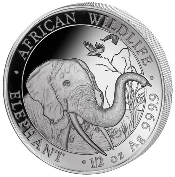 1/2 Unze Silber Somalia Elefant 2018