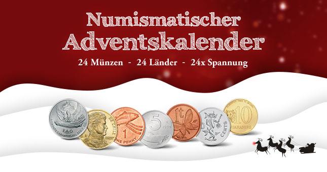 Der numismatische Adventskalender 2018