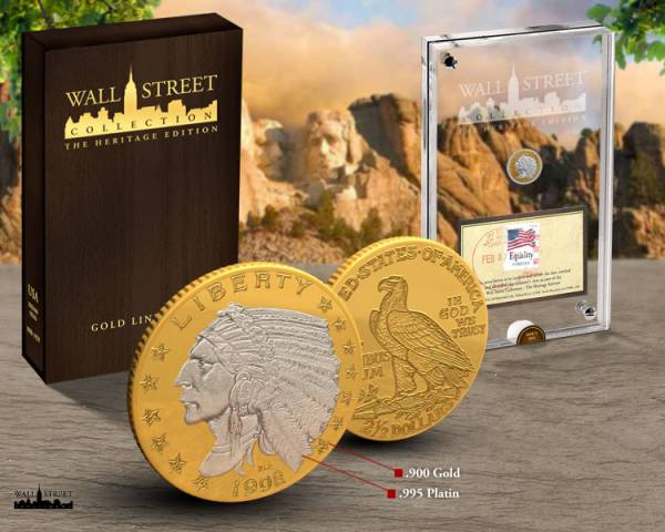 2,5 Dollars Wall Street Investment Heritage Edition Indian Head 2013