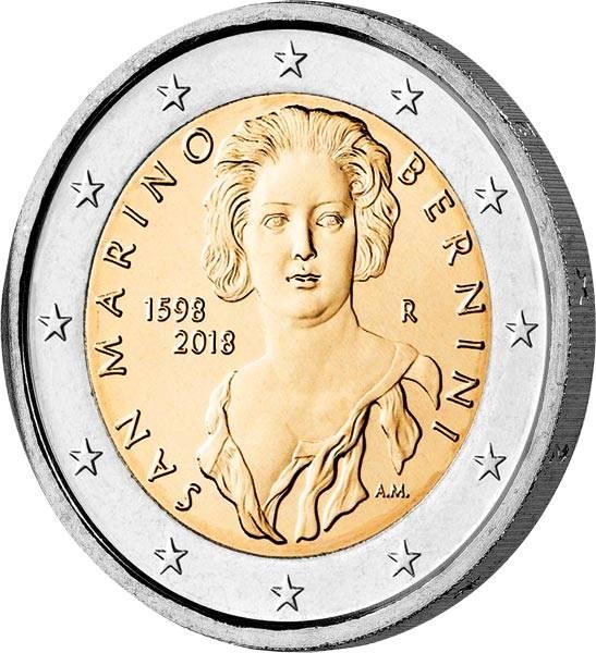 2 Euro San Marino 420. Geburtstag von Gian Lorenzo Bernini 2018