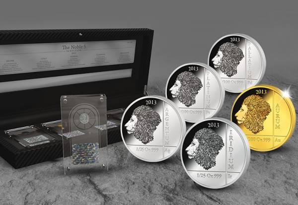 5 x 10 Francs The Noble Five-First Edition 2013  Polierte Platte / Stempelglanz