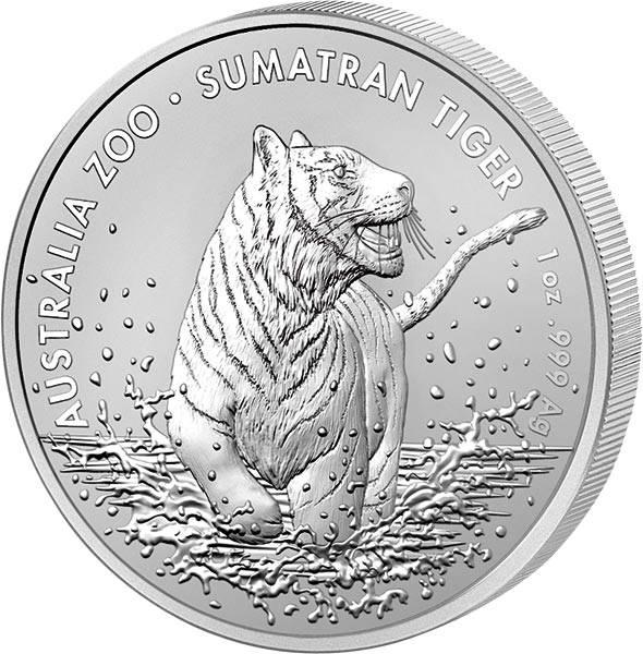 1 Unze Silber Australien Sumatra-Tiger 2020