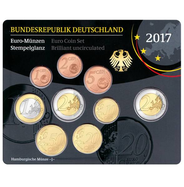 Euro-Kursmünzensatz BRD 2017 Stempelglanz