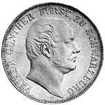 Taler Vereinstaler Friedrich Günther 1862-1863 Sehr schön