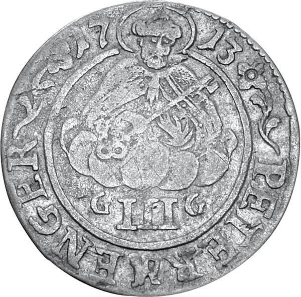 3 Albus Erzbistum Trier Petermänchen 1689-1715 Sehr schön