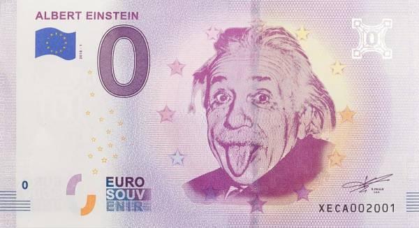 0-Euro-Banknote Albert Einstein 2018